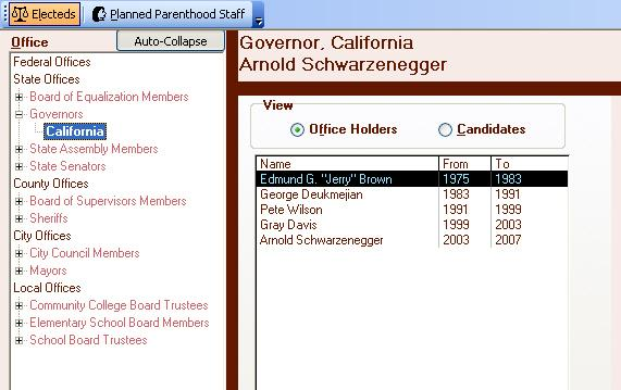 Office Holders Screen